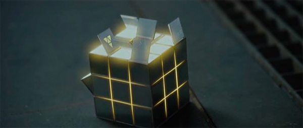 Screencap of a Rubik's Cube like visualizer used in Prometheus